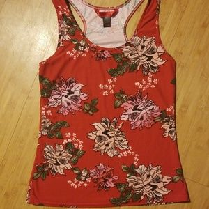 Red Floral Tanktop (Stretchy)